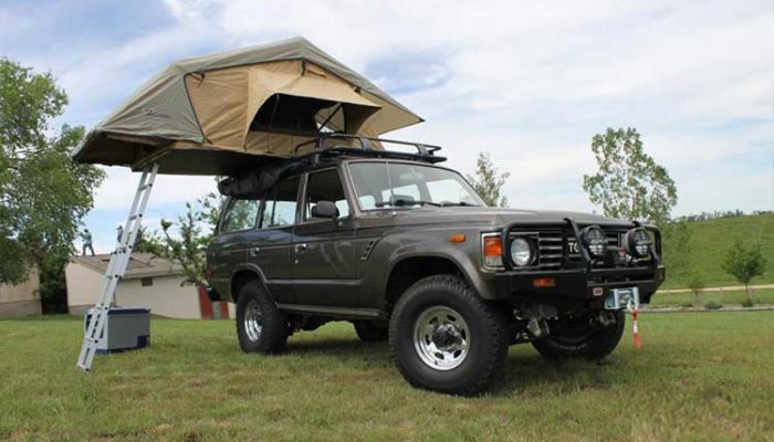 Land Cruiser with Family Rooftop Tent